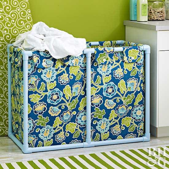 PVC pipe laundry baskets