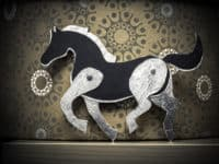 Paper horse with moving legs 200x150 15 Cute Horse Crafts for Kids