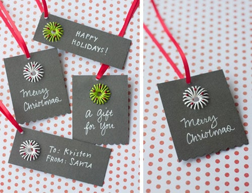 Paper twine gift tags