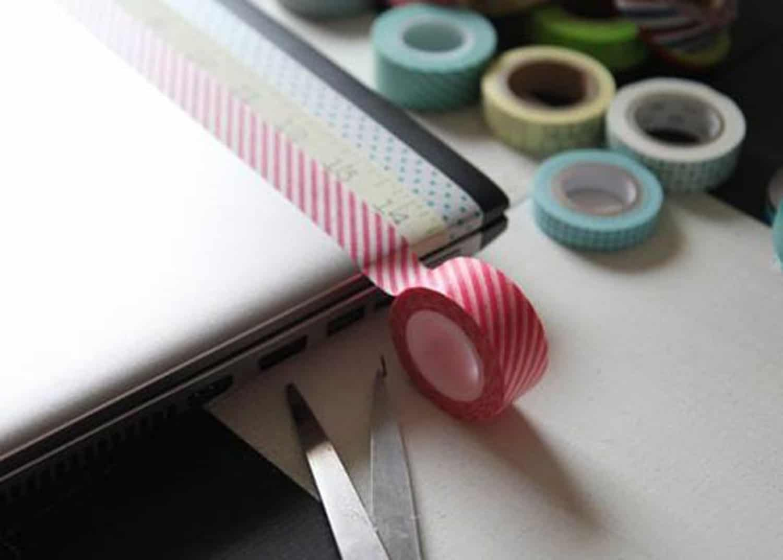 Patterned washi tape stripes