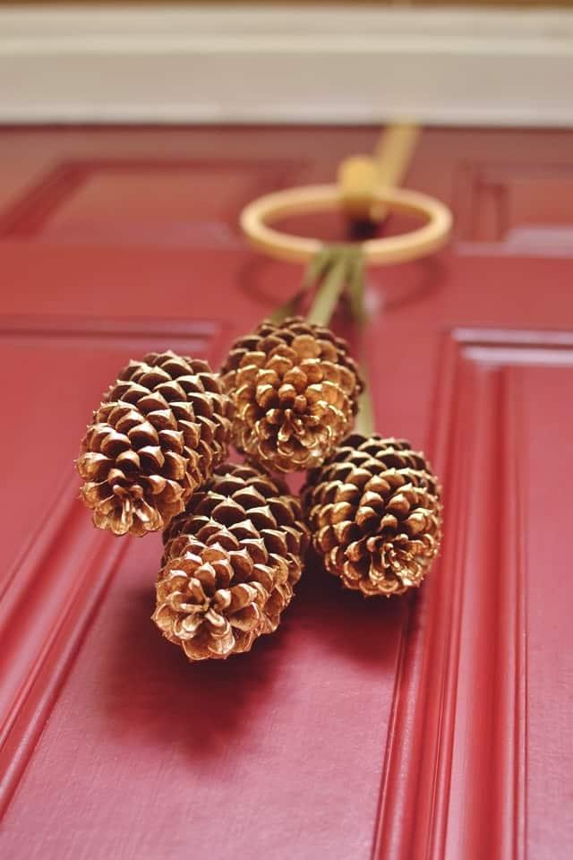 Pinecone door ornament
