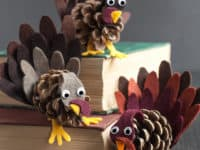 Pinecone turkeys 200x150 13 DIY Pinecone Decorations That Are Perfect for December