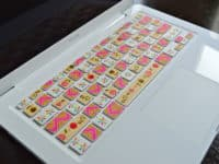 Pretty patterned keyboard keys 200x150 From Cool Skins to Glitzy Makeover: Awesome Ways to Decorate Your Laptop