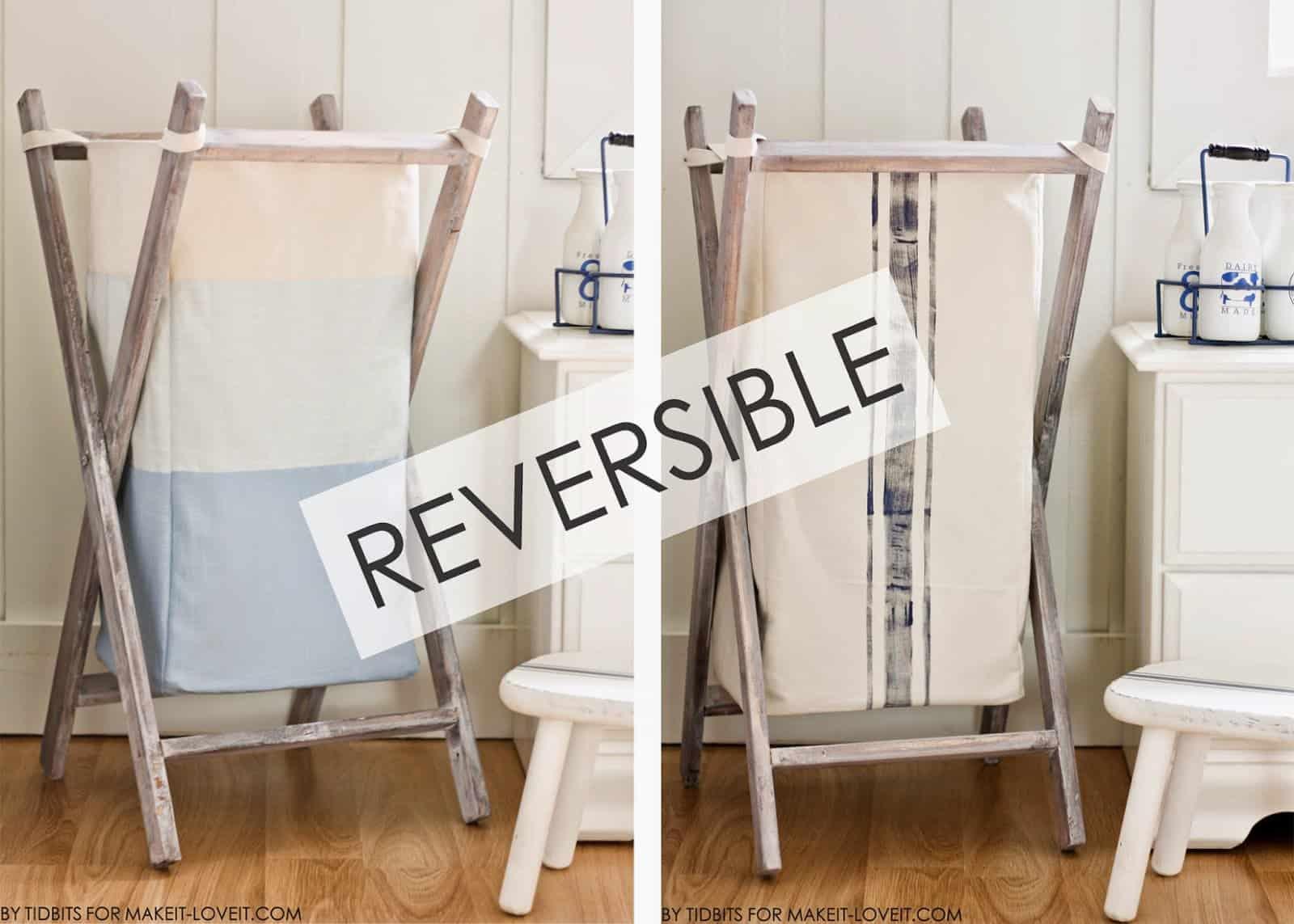 Reversible laundry basket