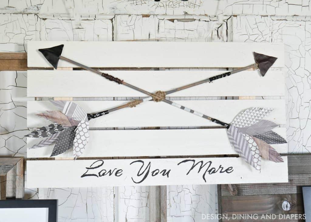 Romantic arrow art piece