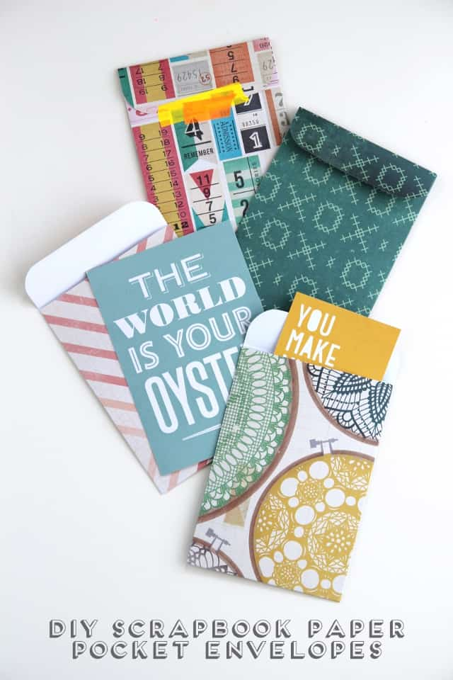 Scrapbook paper envelopes