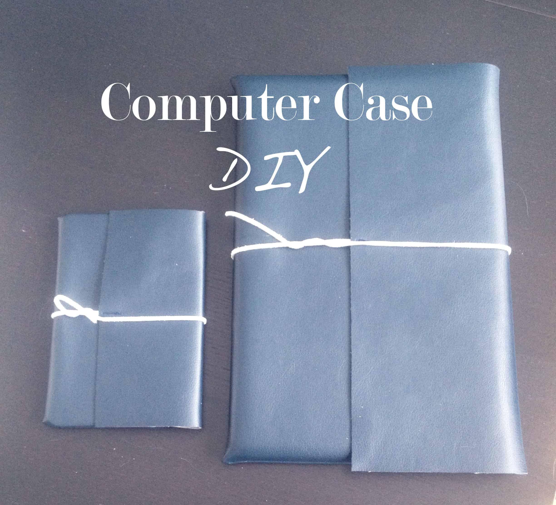 Simple folding leather case