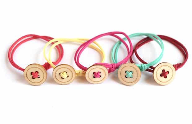 Simplistic button bracelets