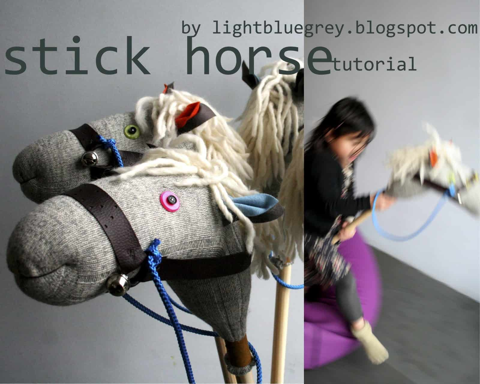 Sock and stick riding horse
