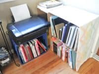 Stacking crate book storage 200x150 Making it Easier for You: DIY College Dorm Hacks