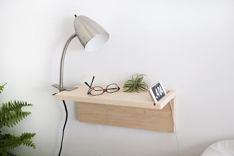 Tiny floating nightstand