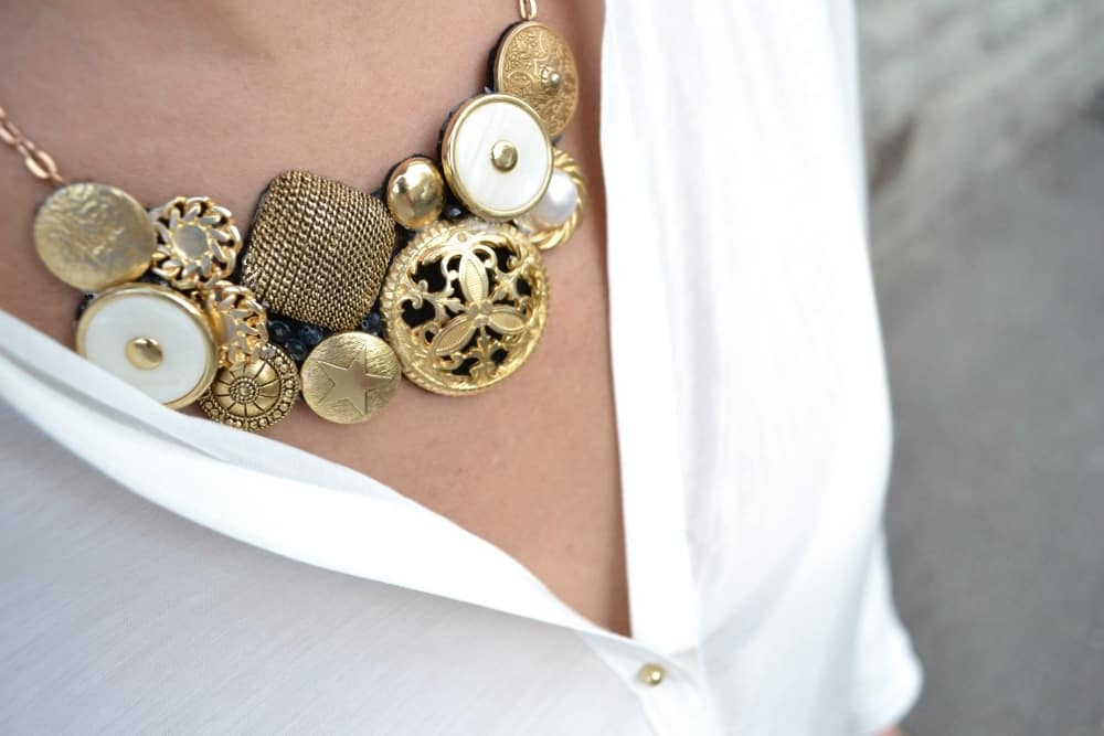 jewelry vintage Button