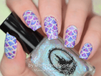 Watercolor mermaid nails 200x150 DIY Mermaid Nails: An Enchanting Fairytale Manicure