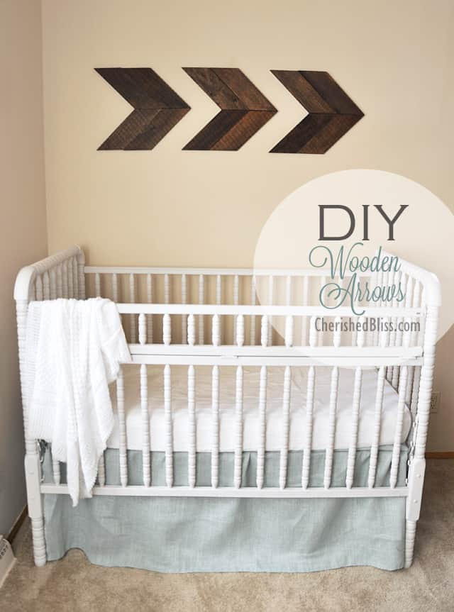 Wooden nursery arrows