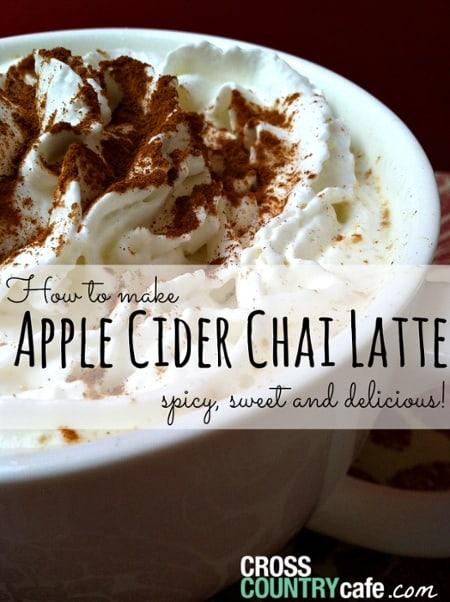 Apple cider Chai latte