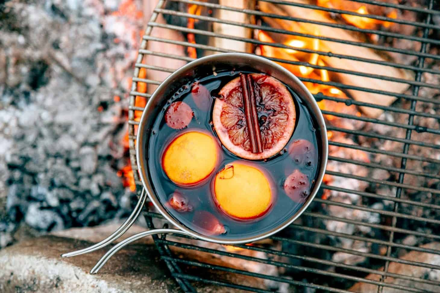 Campfire mulled wine