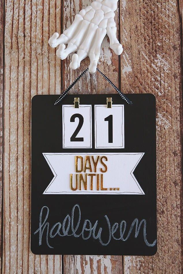 Chalkboard countdown board