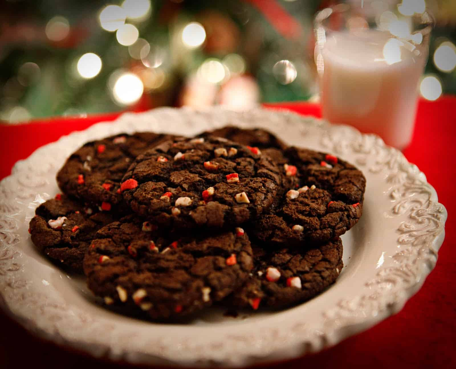 Christmas mint chocolate chip cookies