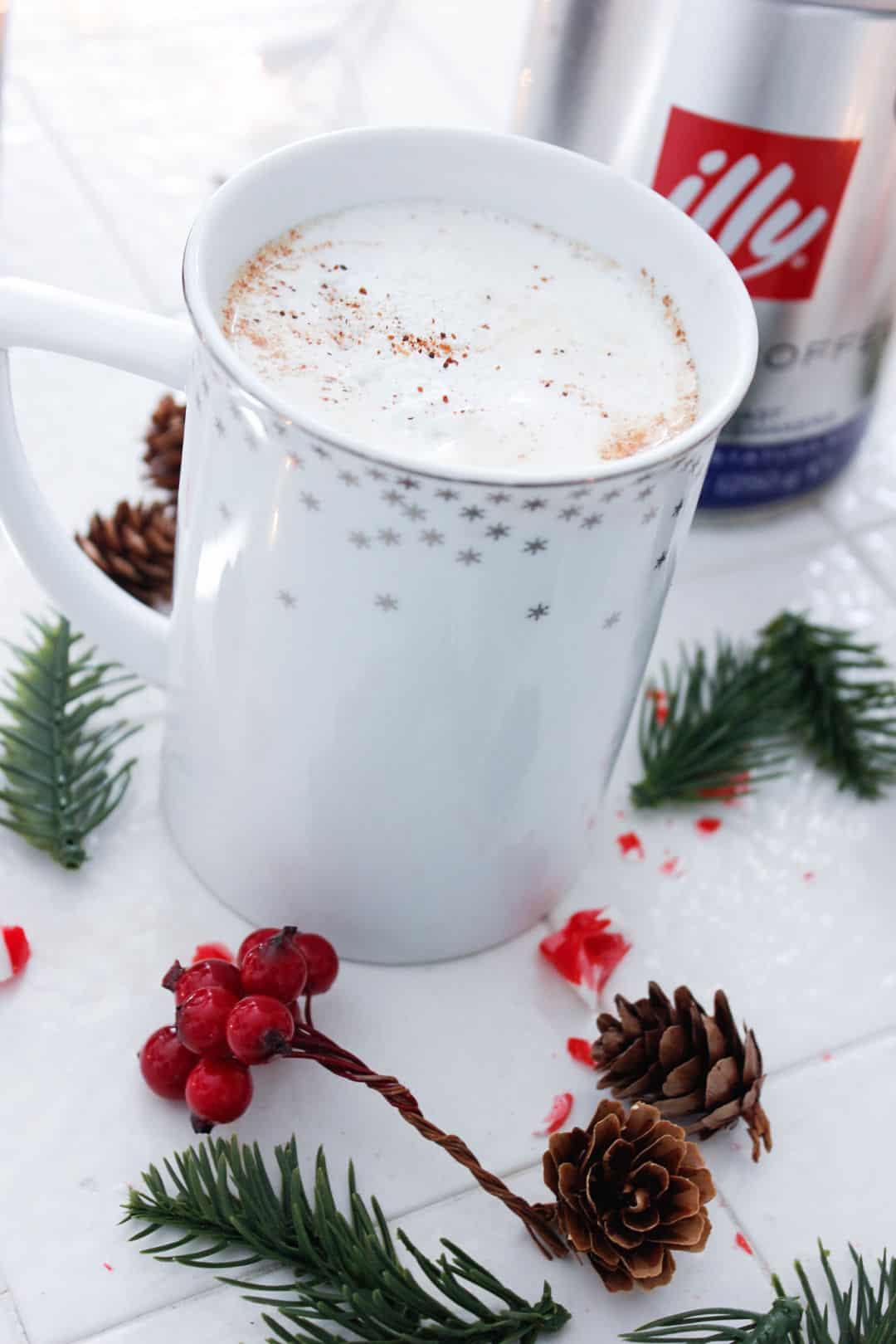Christmas peppermint coffee