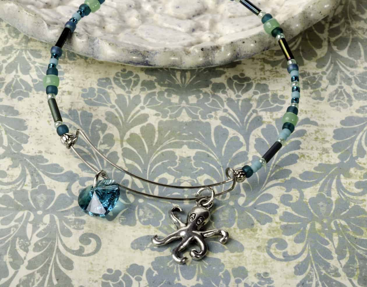 Coastal bangle bracelet