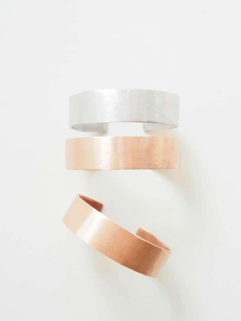 Copper bangle bracelets
