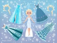 DIY Elsa paper dolls 200x150 A Disney Delight: 13 Fun Kids' Crafts Inspired by Frozen