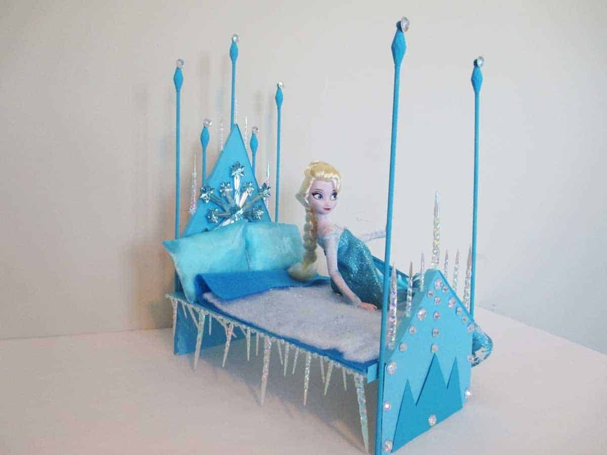 DIY ice princess bed for Elsa dolls