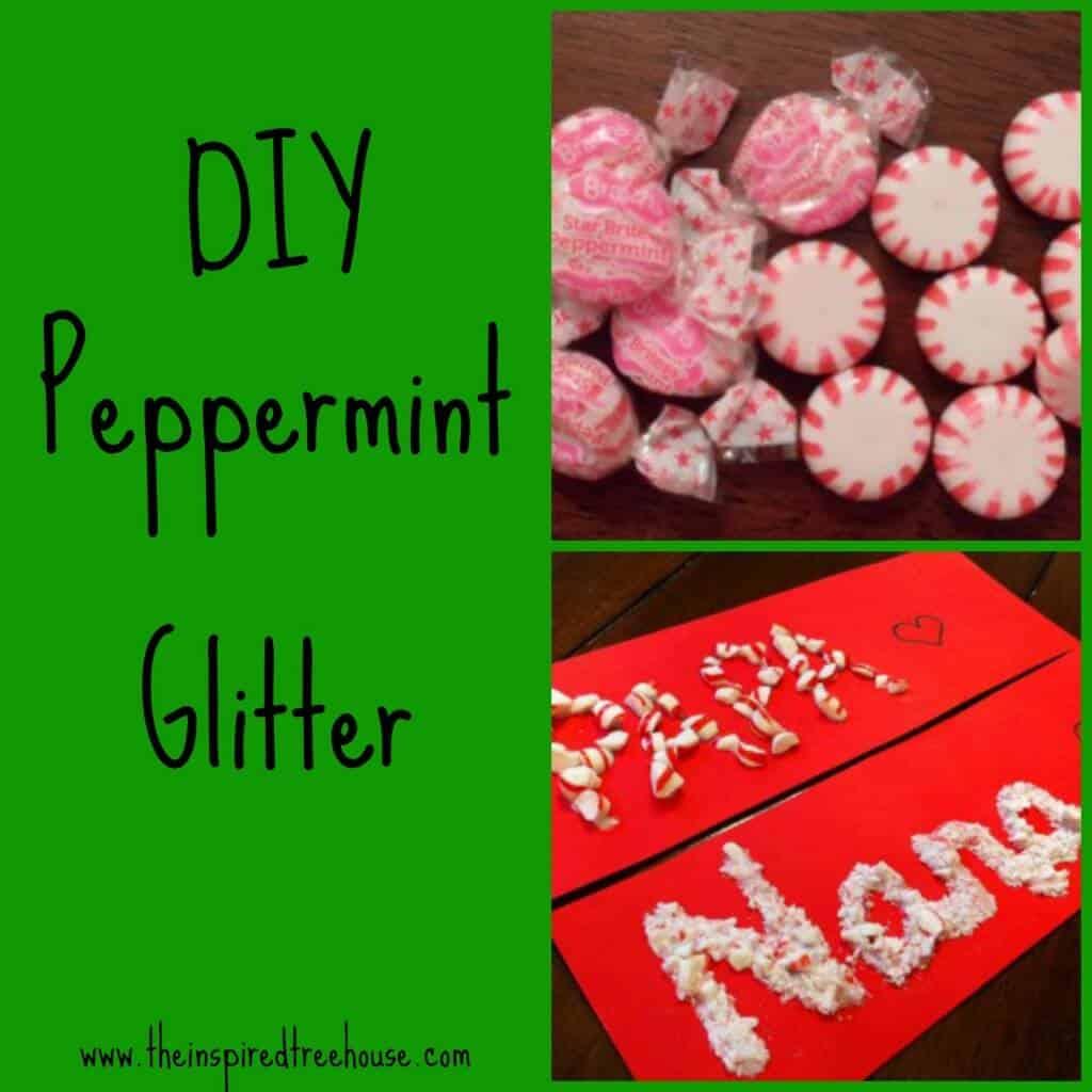 DIY peppermint glitter