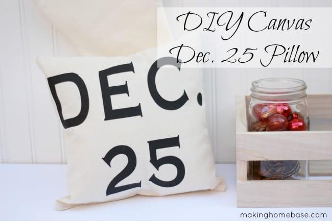December 25th canvas pillow