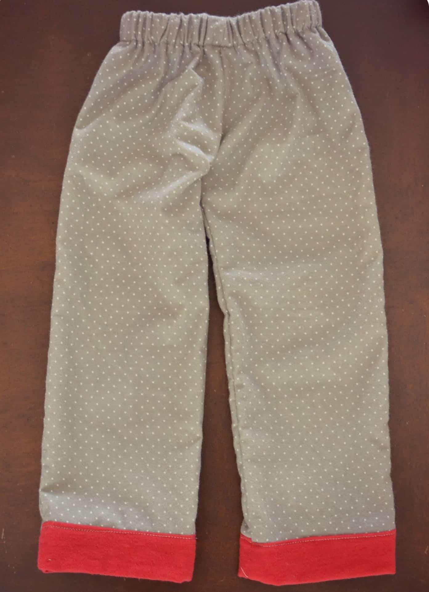 Dotted pajama pants