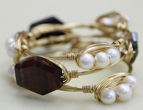 Embellished bangle bracelets