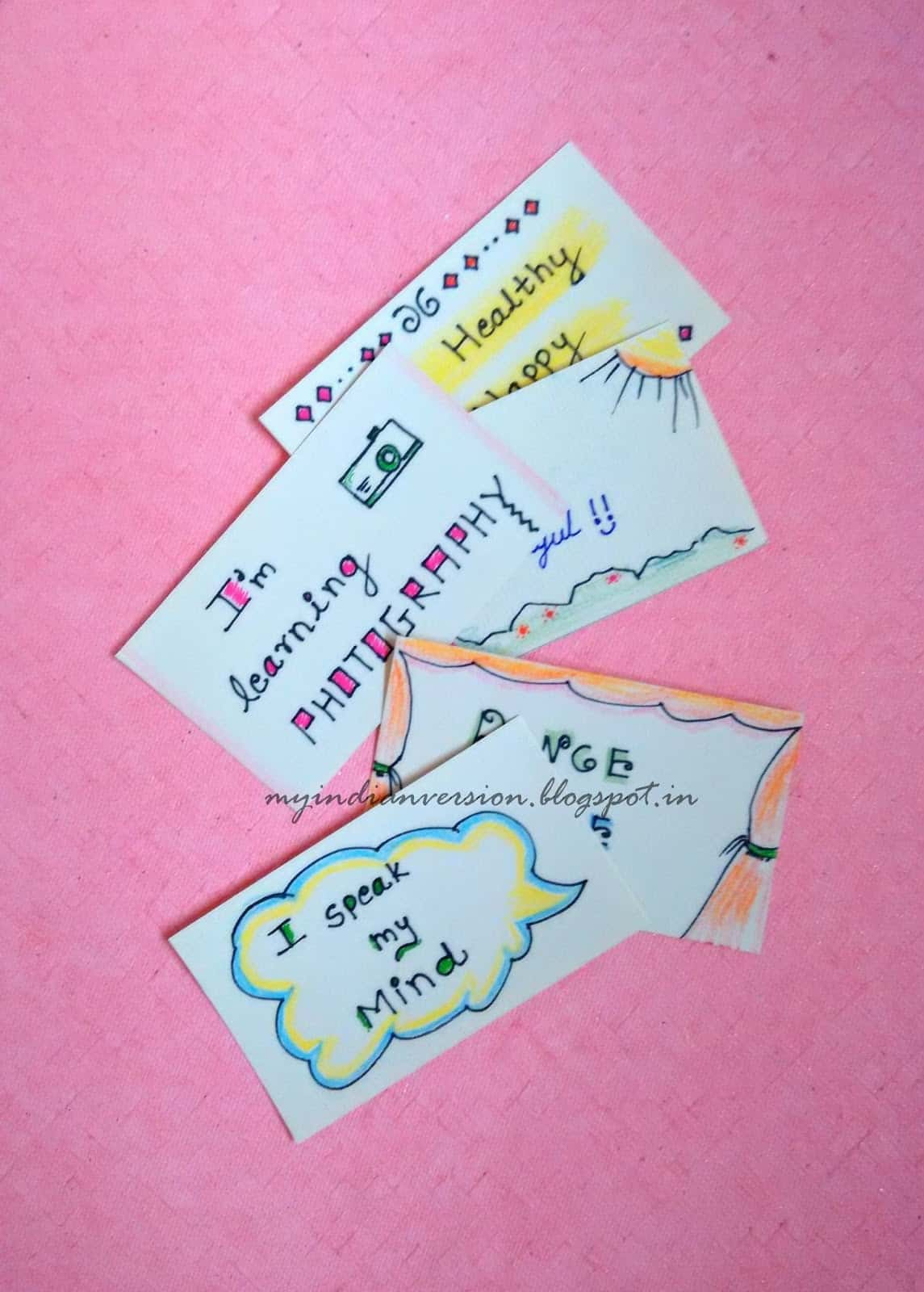 Flashy goal cards