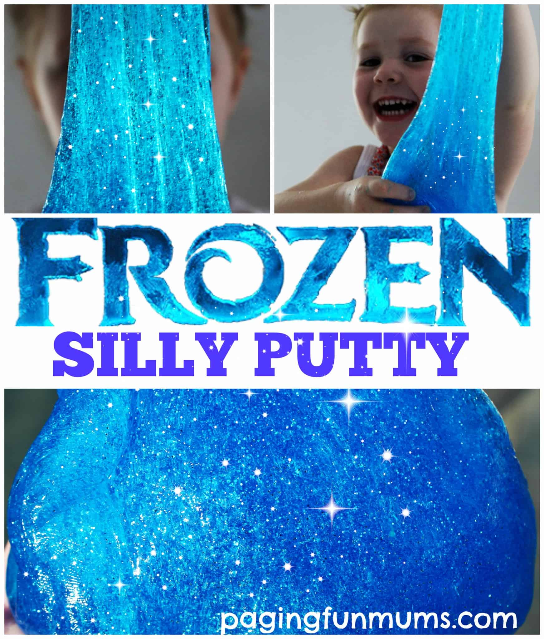 Frozen inspired FIY sparkly silly putty