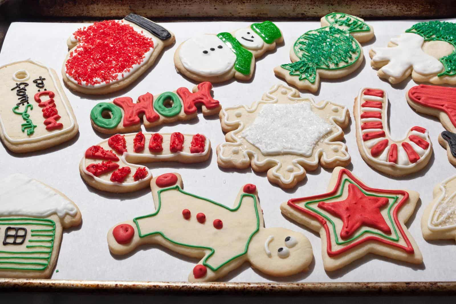 Fun iced sugar cookies