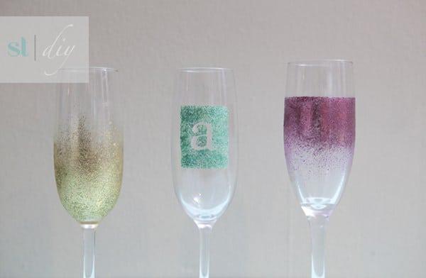 Glam champagne glasses