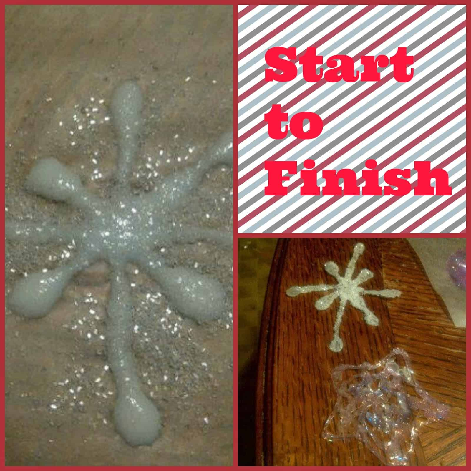Glue and glitter snowflake craft 15 DIY Christmas Crafts Involving Glitter