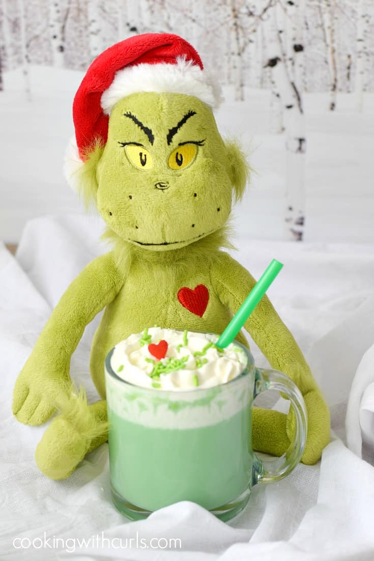 Grinch inspired hot chocolate