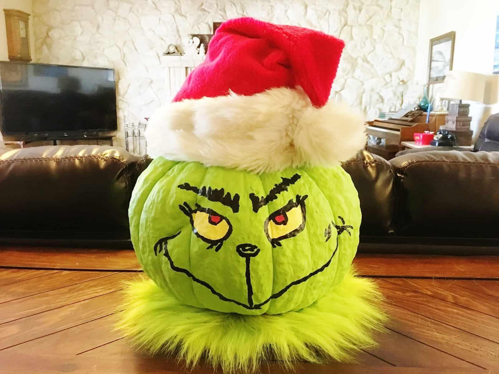 Grinch pumpkin