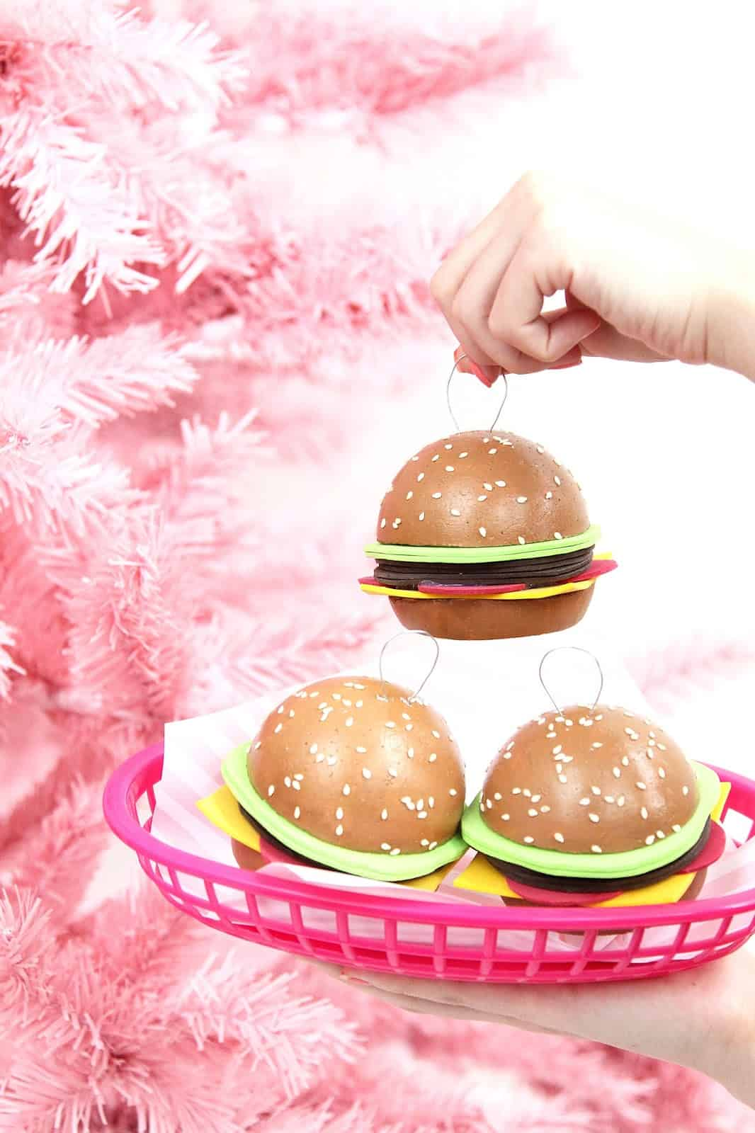 Hamburger Christmas ornaments