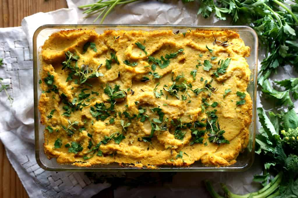 Herbed cauliflower gratin 15 Christmas Dinner Alternatives for Vegetarians