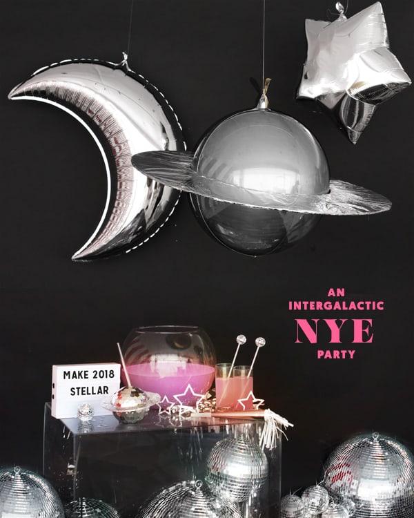 Intergalactic new year decor