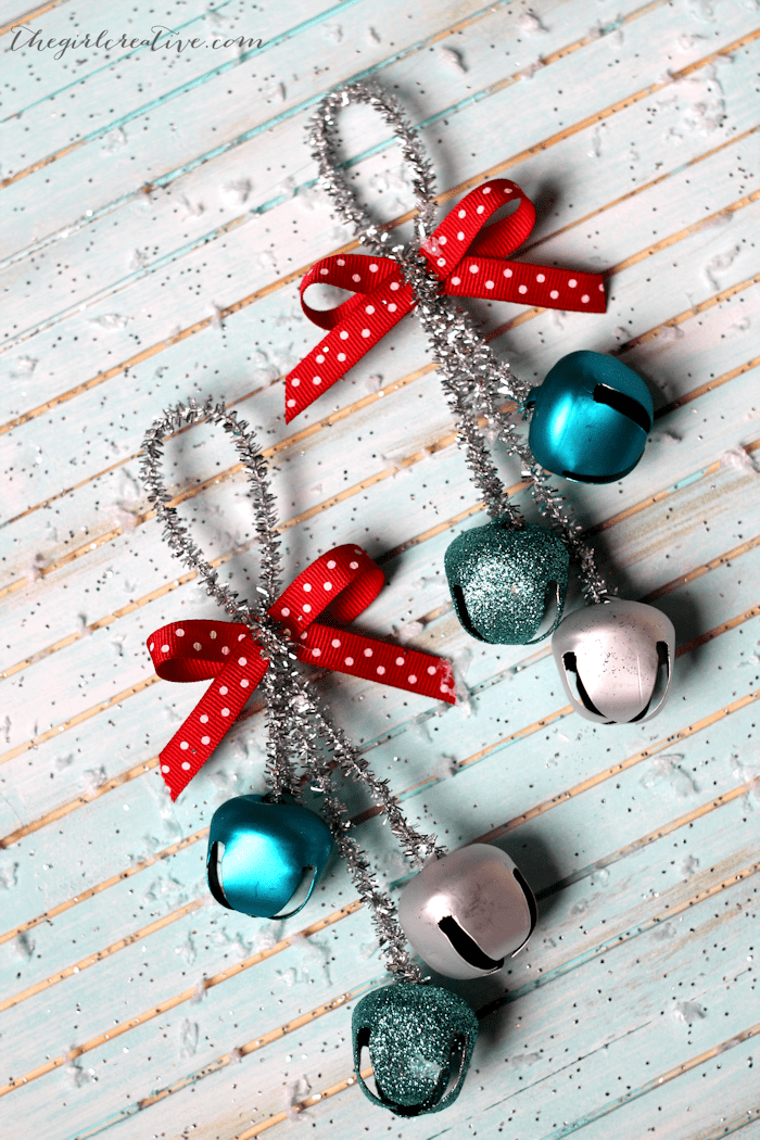 Jingle bell Christmas ornaments