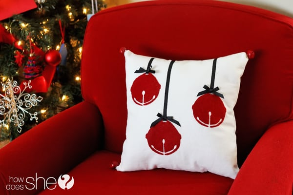 Jingle bell pillow