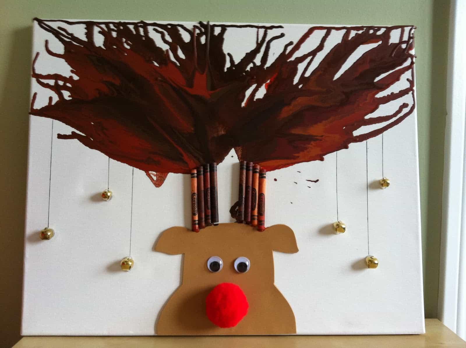 Jingle bell reindeer art