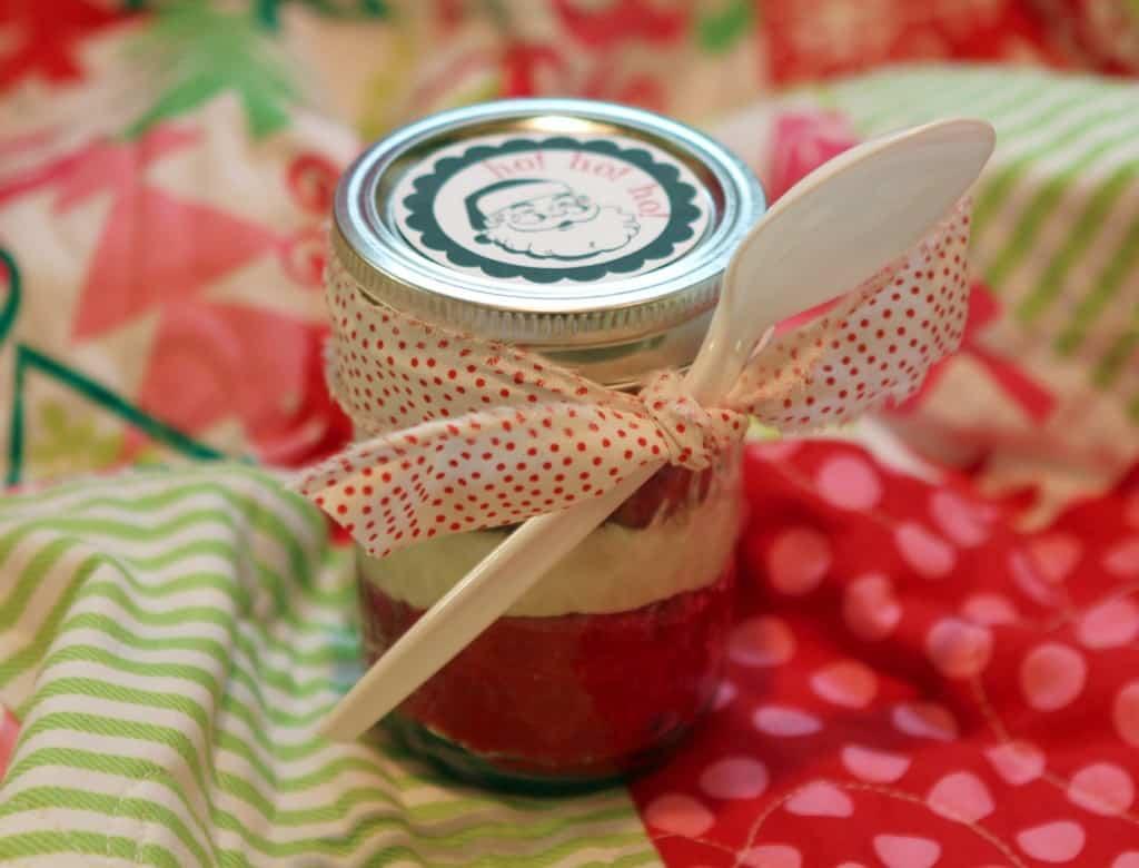 Mason jar cupcake Christmas gift