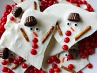 Melted snowman bark 200x150 An Office Celebration: 15 Easy DIY Holiday Gifts for Coworkers