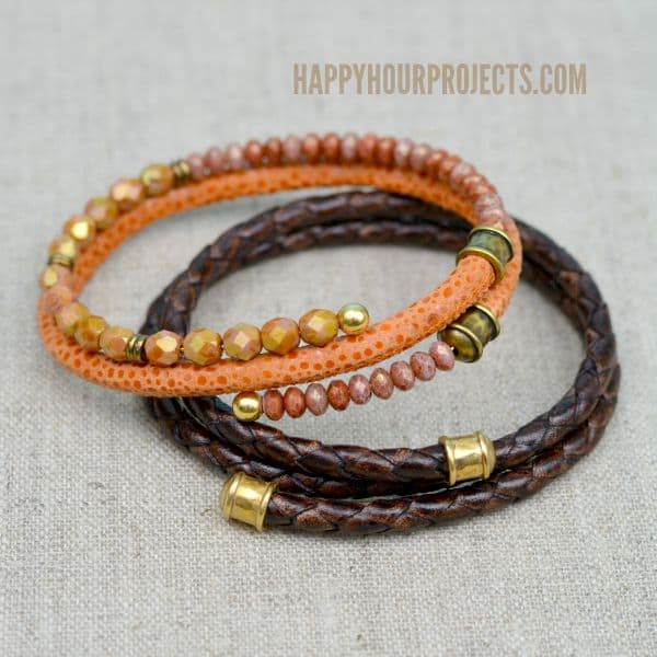 Memory wire bangle bracelets