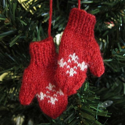 Mini mittens ornament