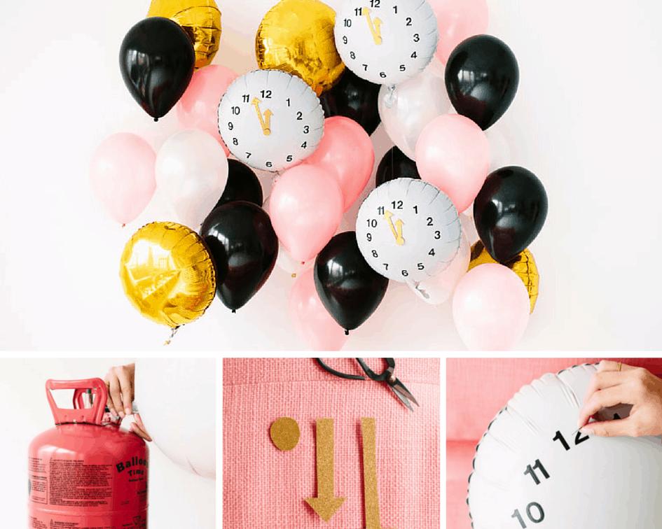 NYE clock balloons
