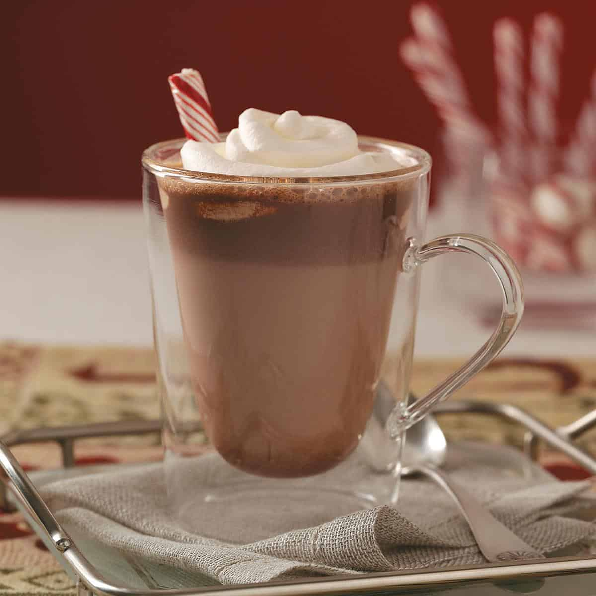 Old fashioned malted hot chocolate